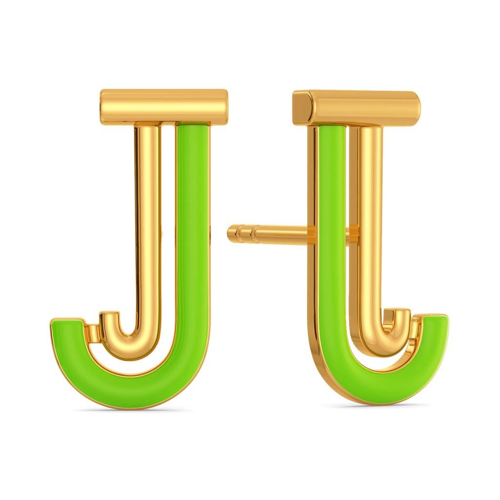 Just in Jade Gold Earrings