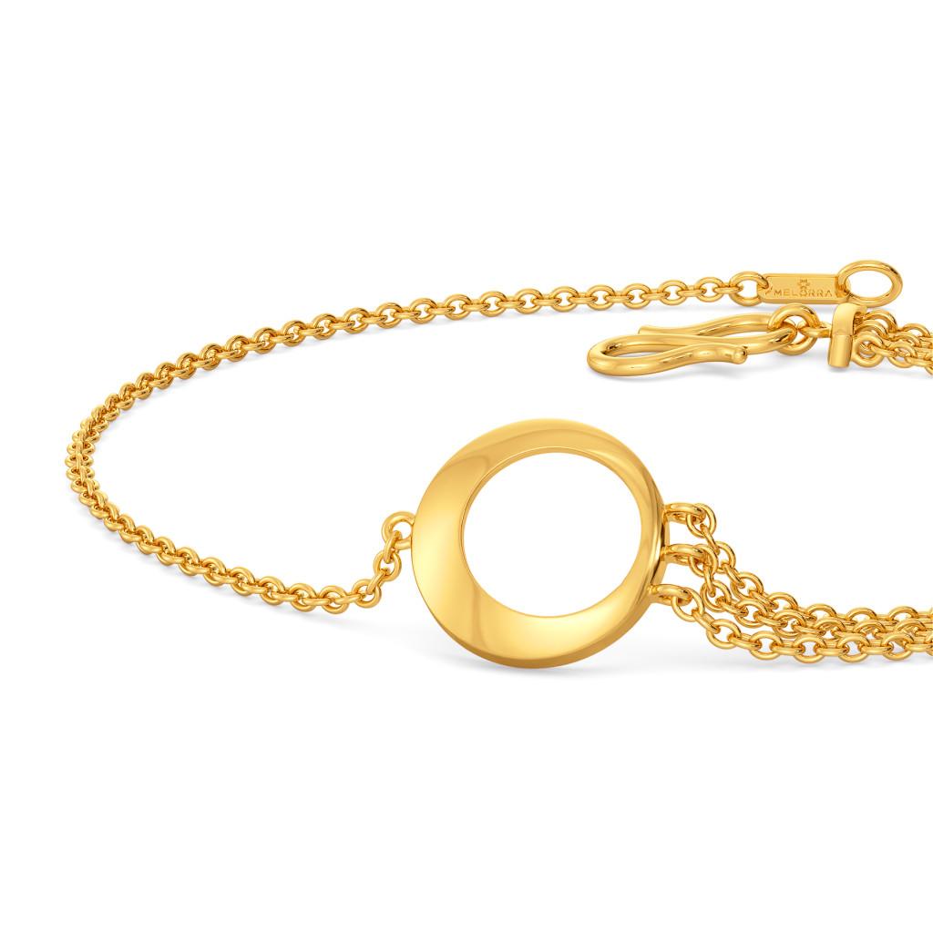 Fringe Tease Gold Bracelets
