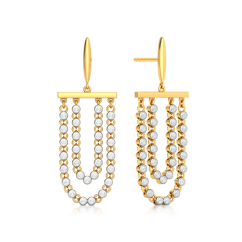 Looped Fringe Diamond Earrings