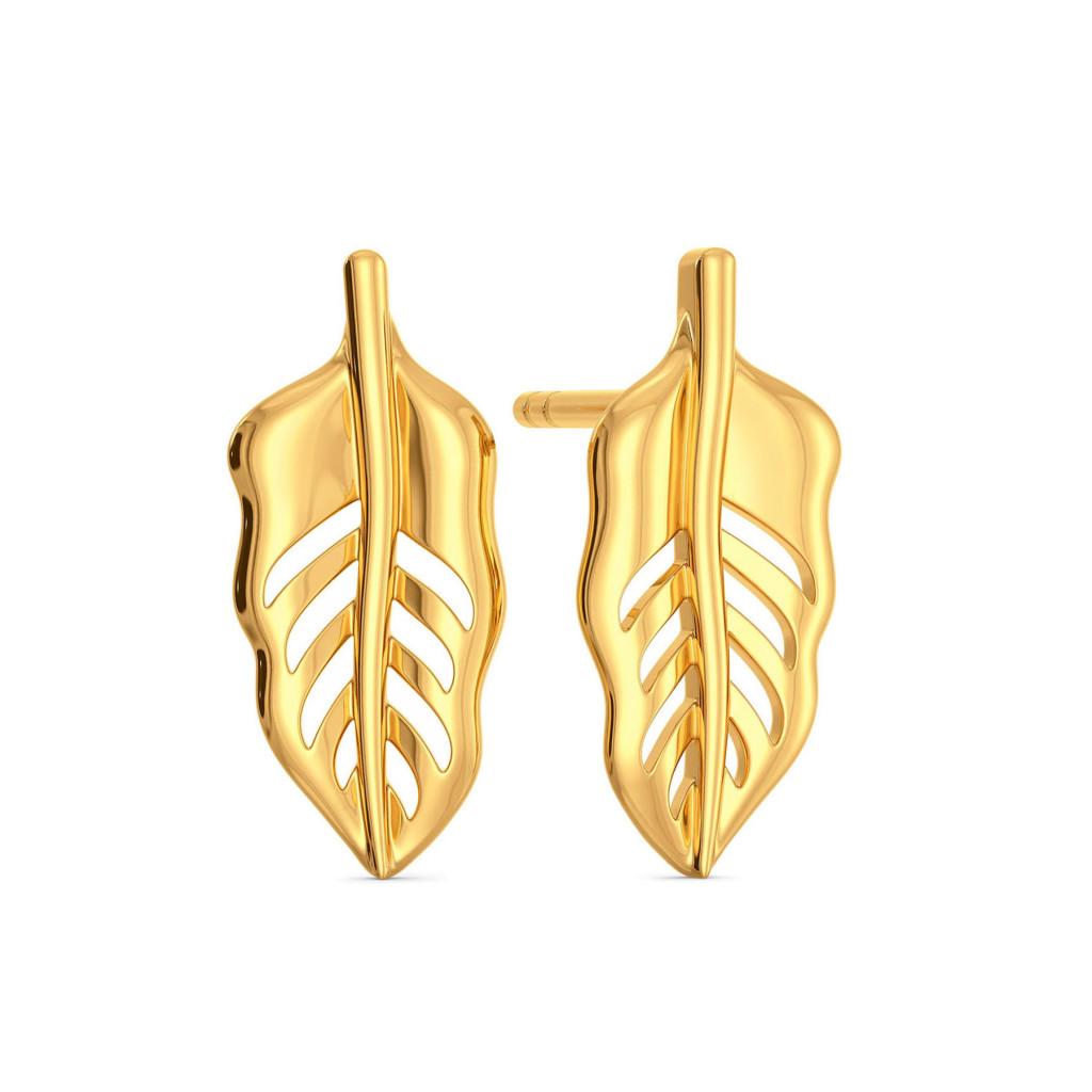 Feather Fiesta Gold Earrings