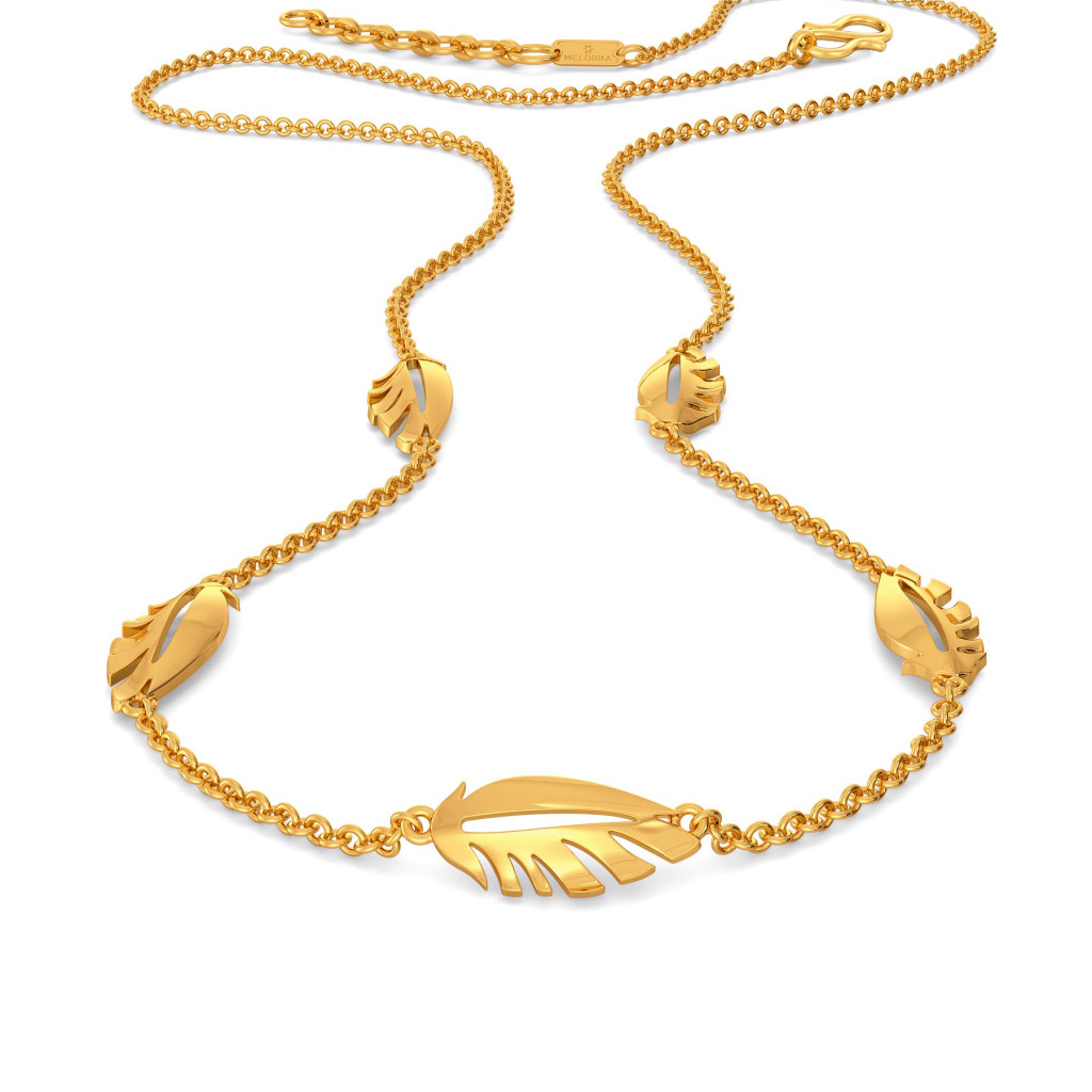 Fab Feather Gold Necklaces