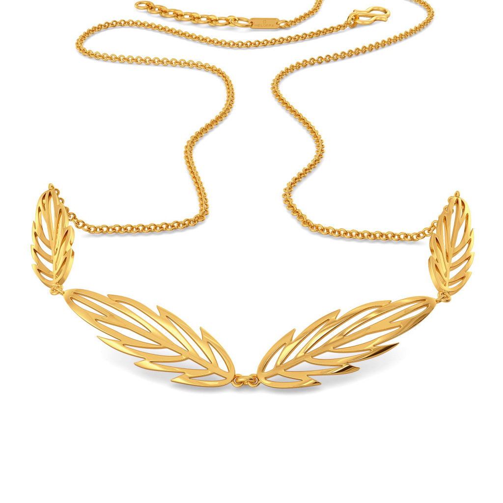 Feather Flock Gold Necklaces