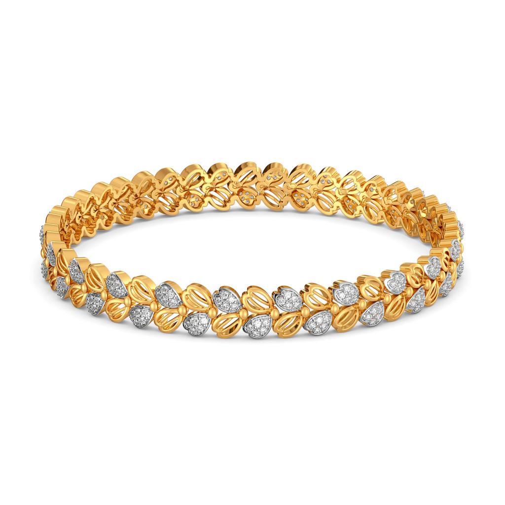Floral Feat Diamond Bangles