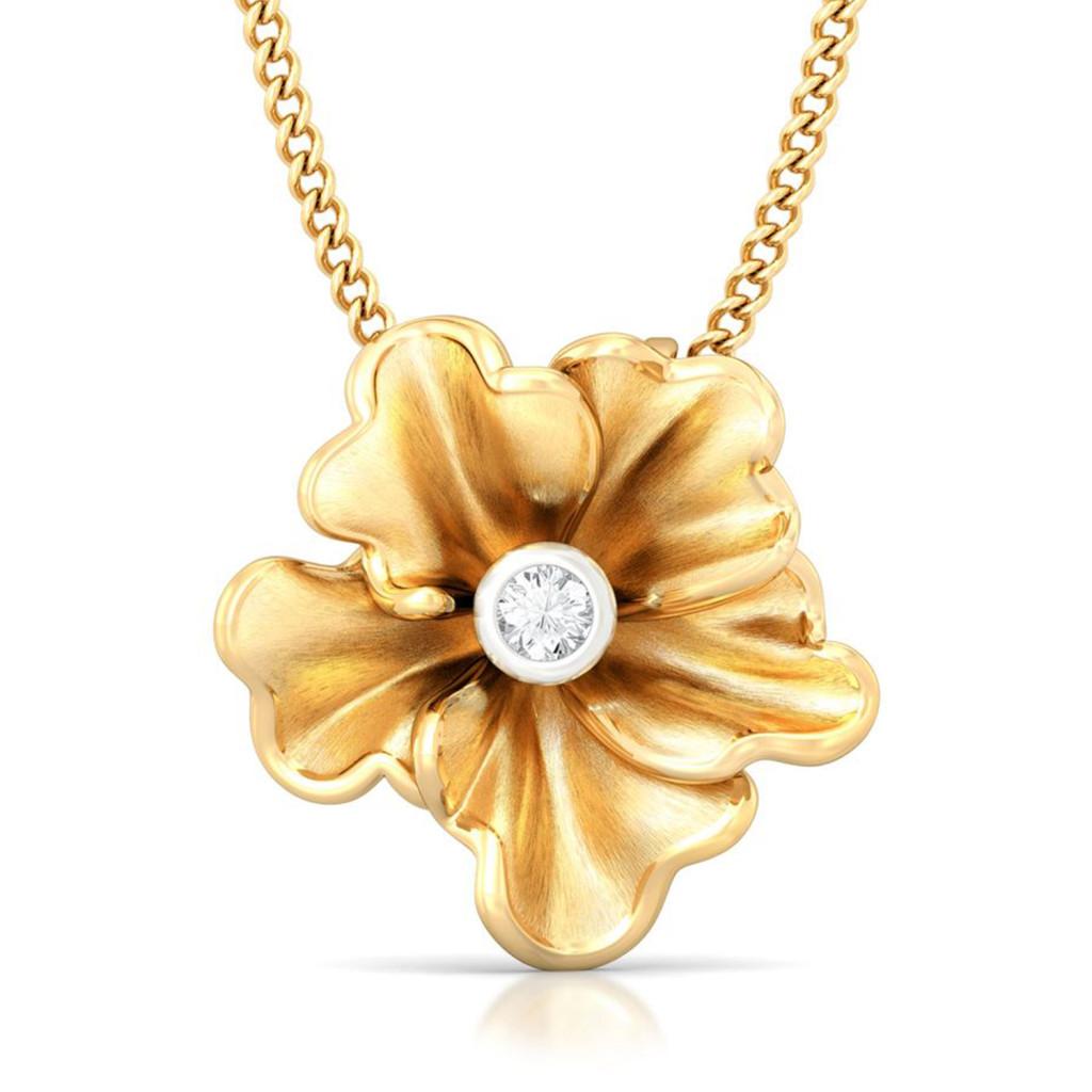 Yellow Carnation Diamond Pendants