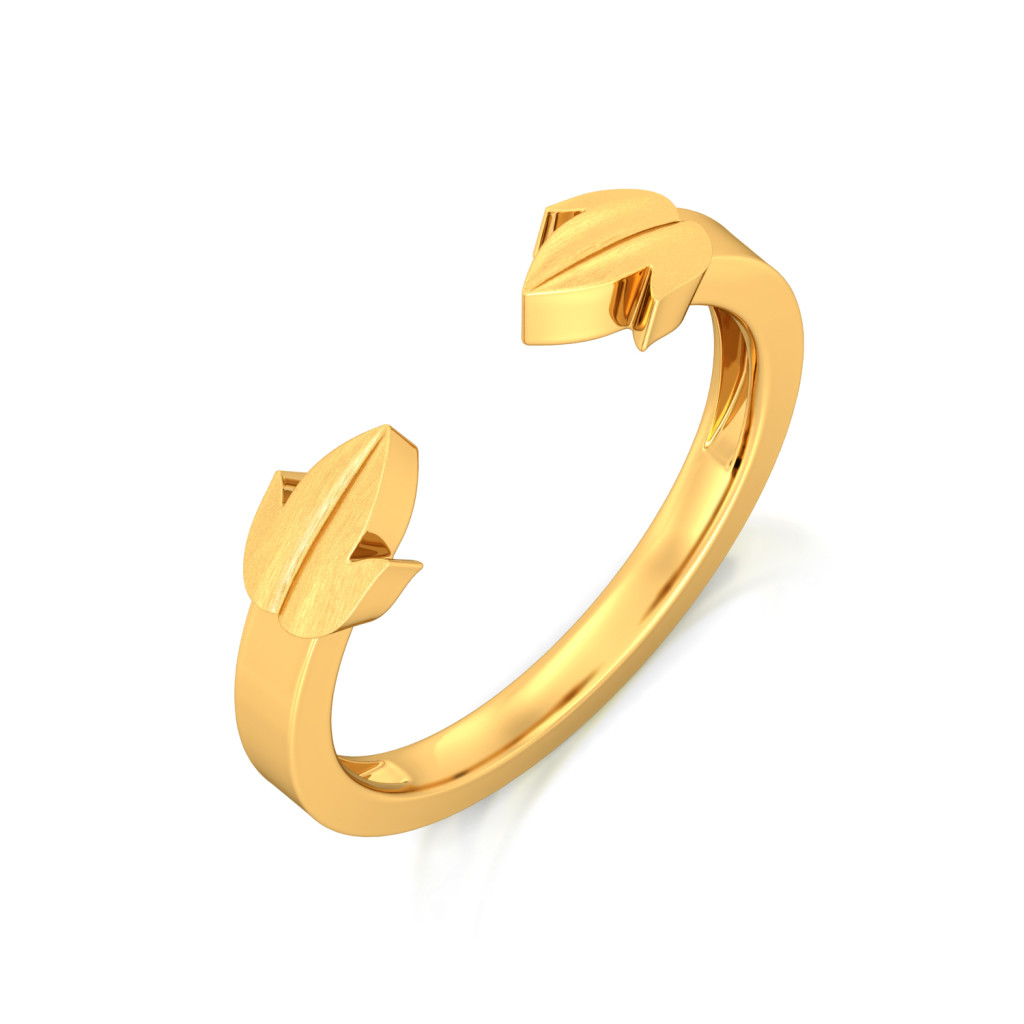 Leaf of Faith Gold Rings
