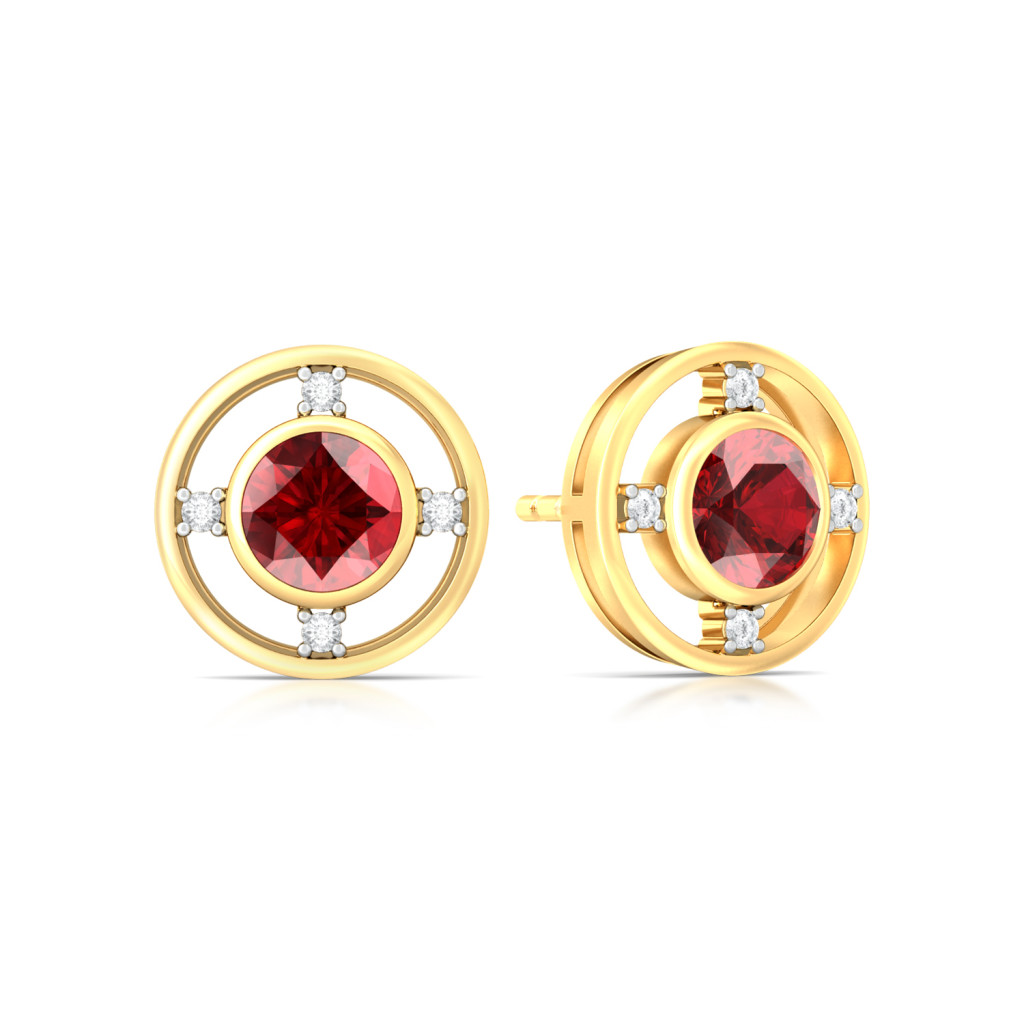 Gorgeous in Garnet Diamond Earrings
