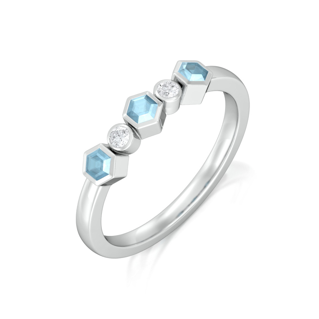 Belle in Blue Diamond Rings