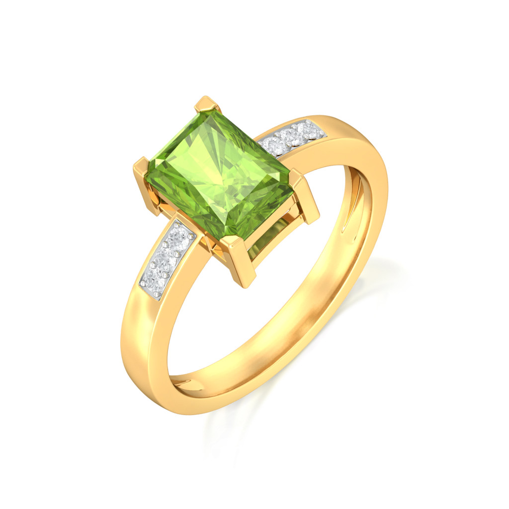 Olive Diamond Rings