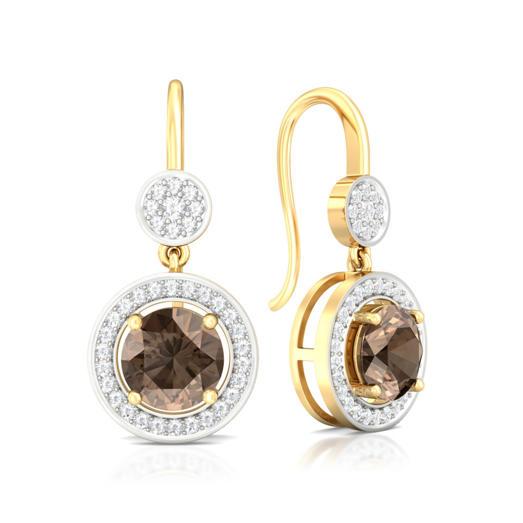 Chocolat Diamond Earrings