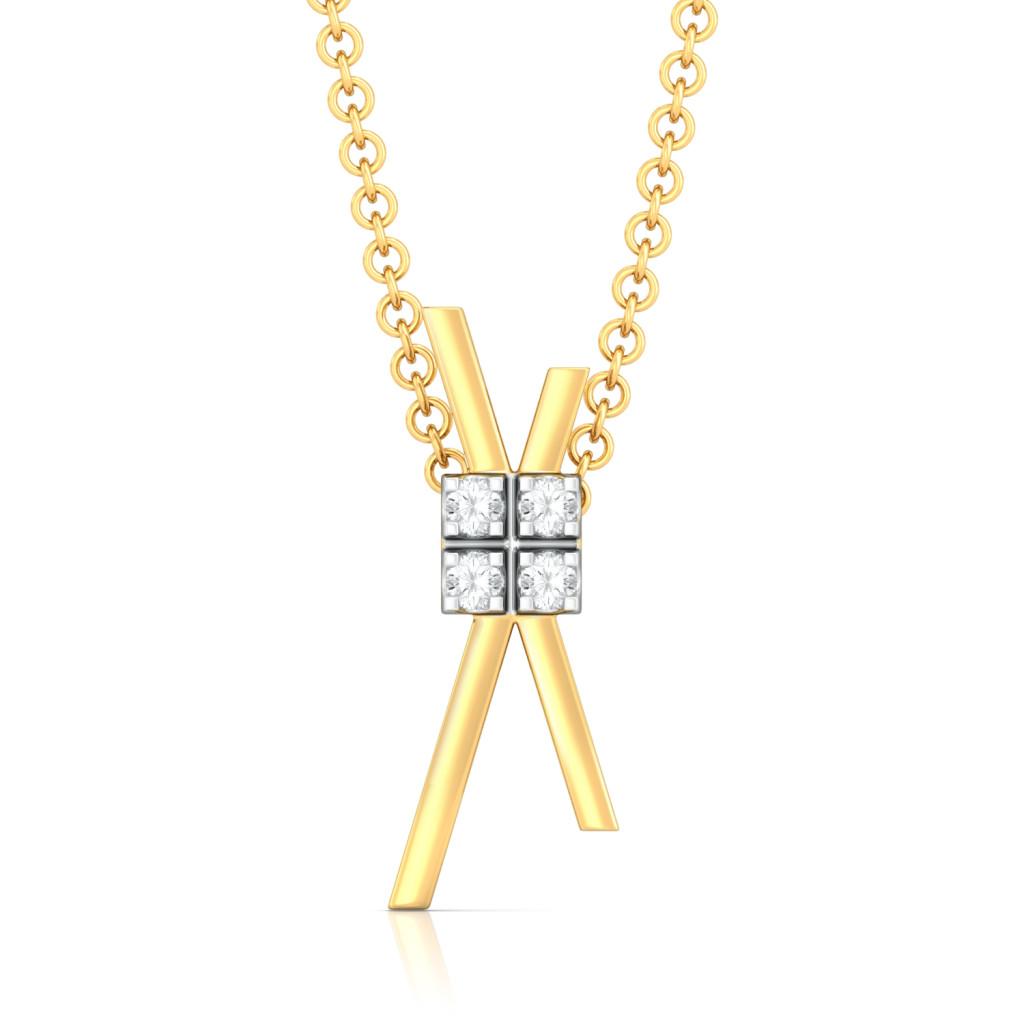 Criss-Cross Cool Diamond Pendants