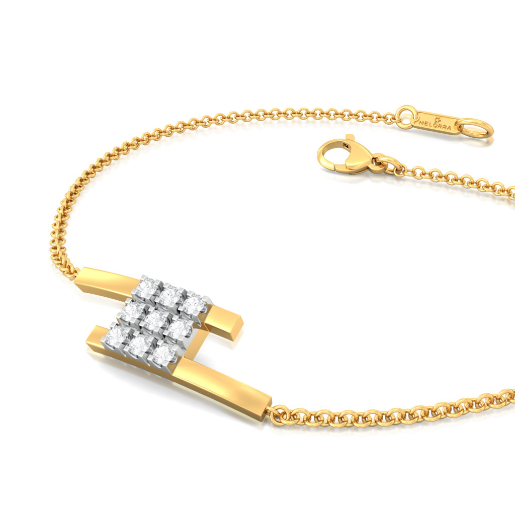 Mistress of Squares Diamond Bracelets