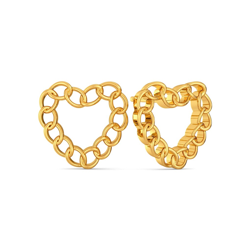 Love Shackles Gold Earrings