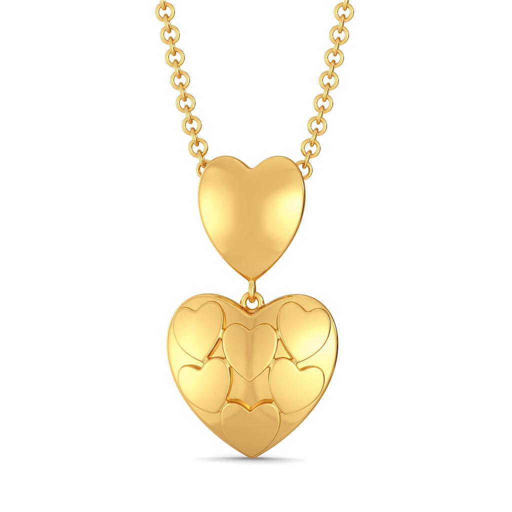 Club of Hearts Gold Pendants