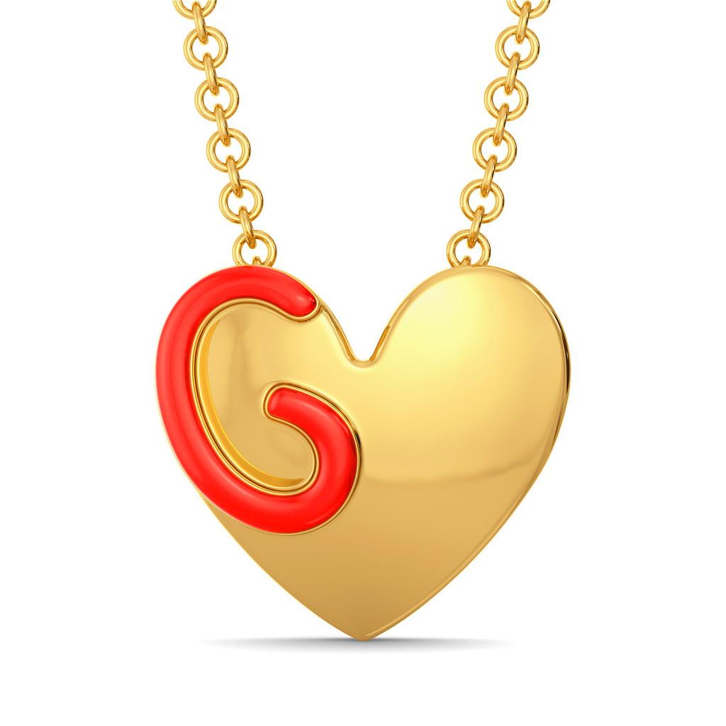 Heart Apart Gold Pendants