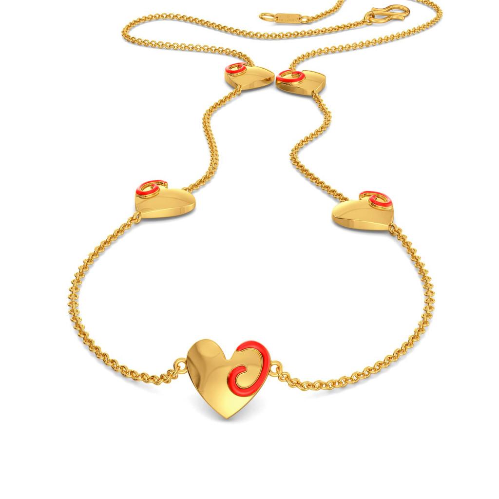 Heart Apart Gold Necklaces