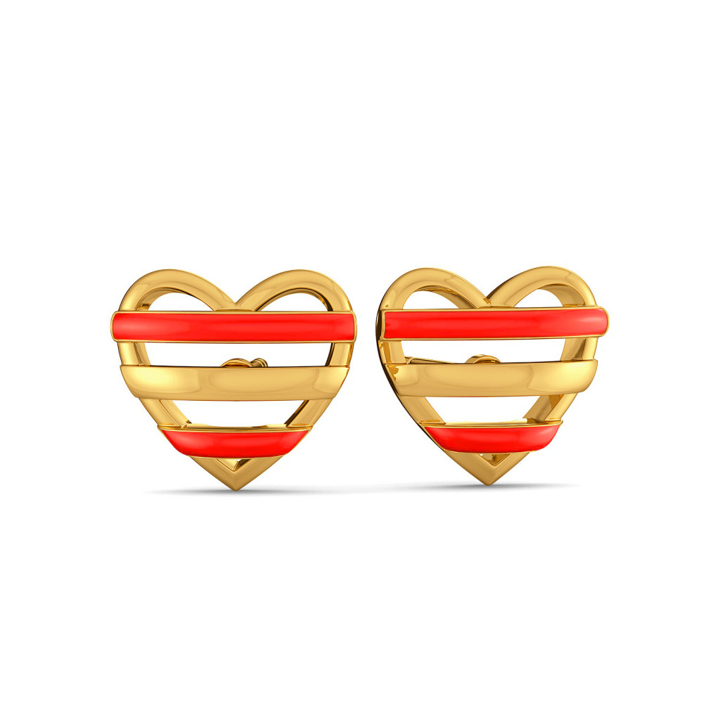 Scarlet Heart Gold Earrings