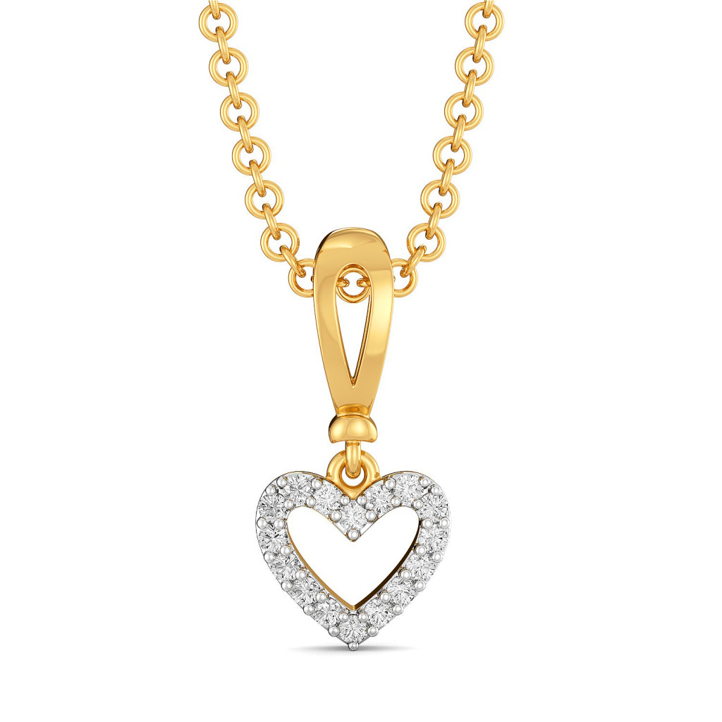 Knotty Hearts Diamond Pendants