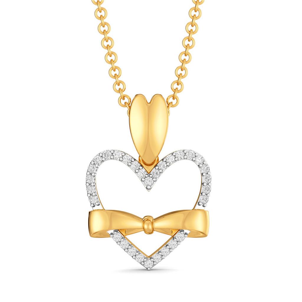 Doting Bows Diamond Pendants