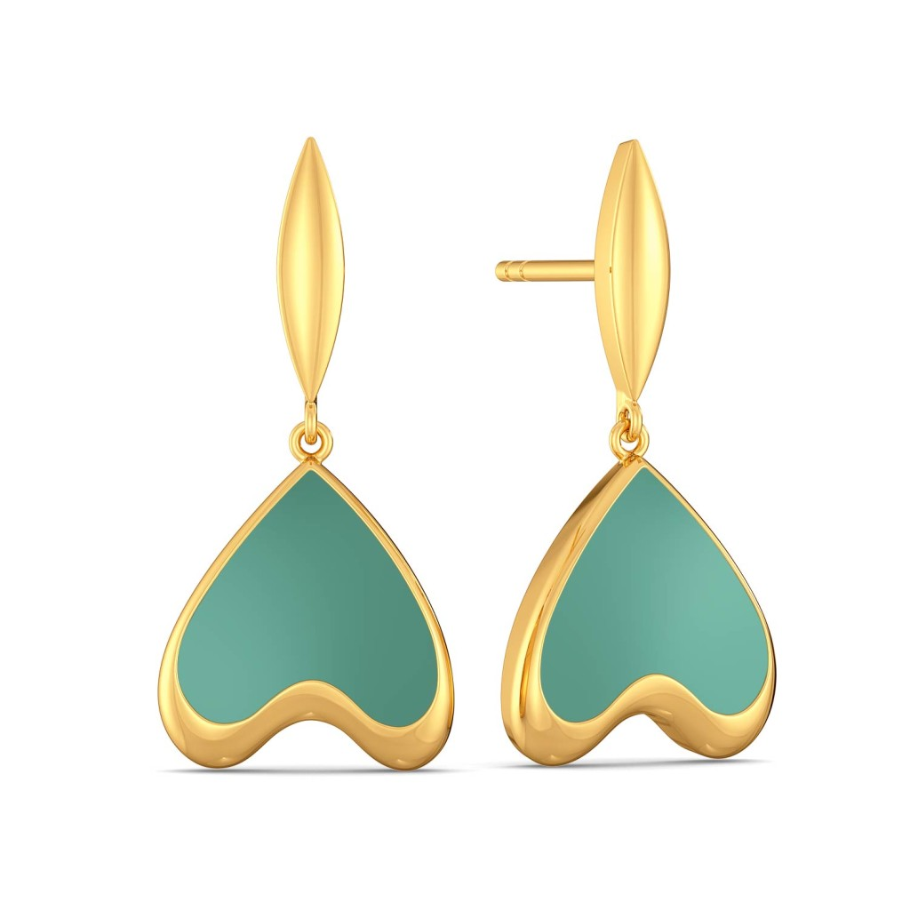 Seal the Teal Gold Earrings