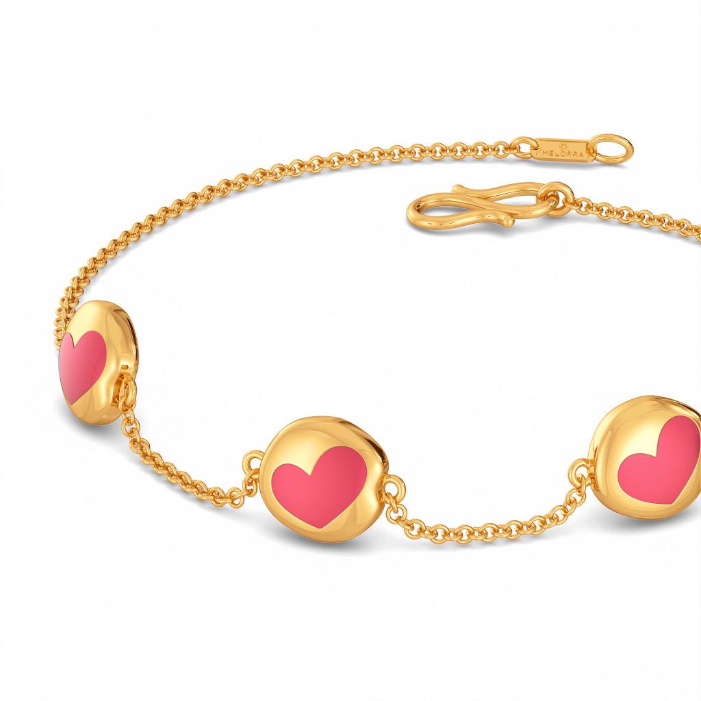 Enamoured Enamel Gold Bracelets