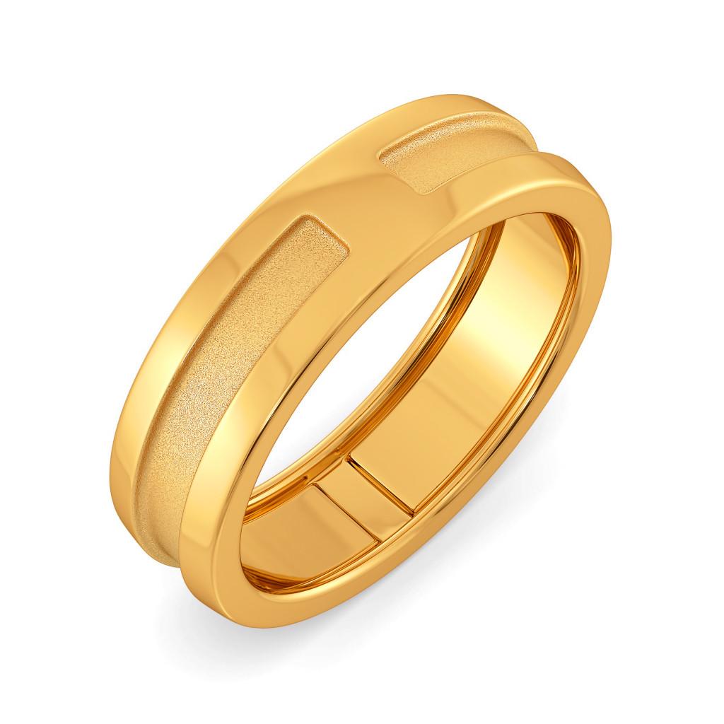 Subtle Seams Gold Rings
