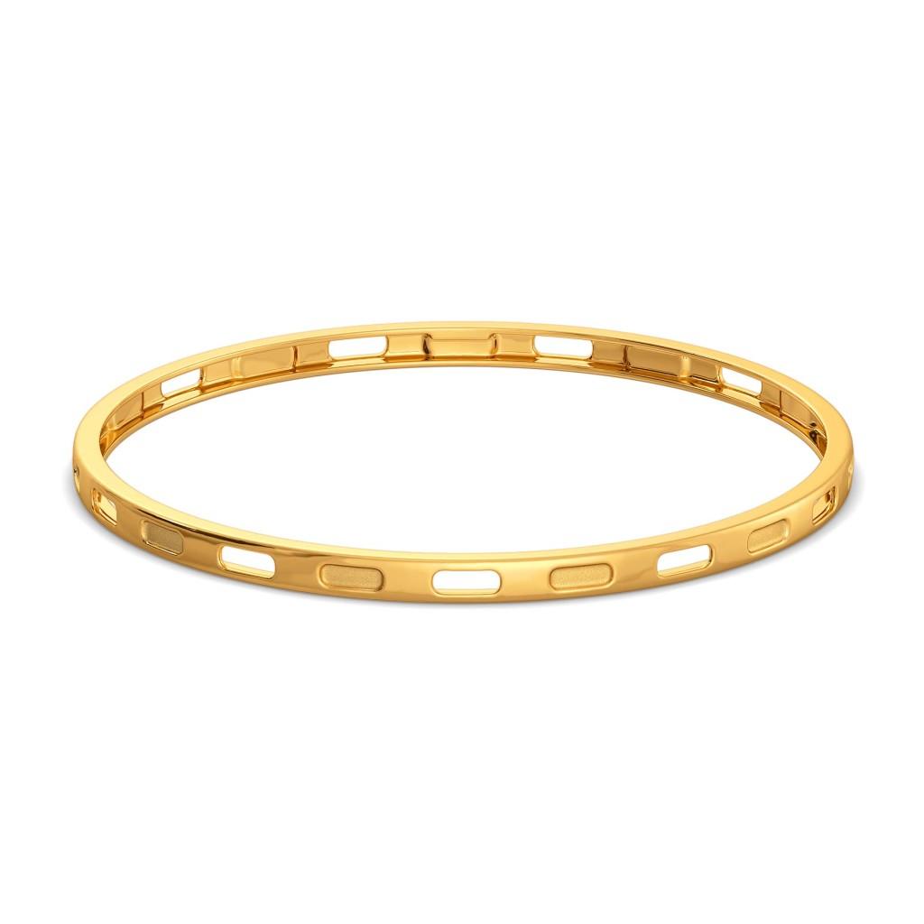 Subtle Seams Gold Bangles