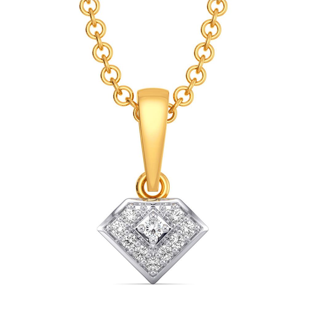 Bold Bolts Diamond Pendants