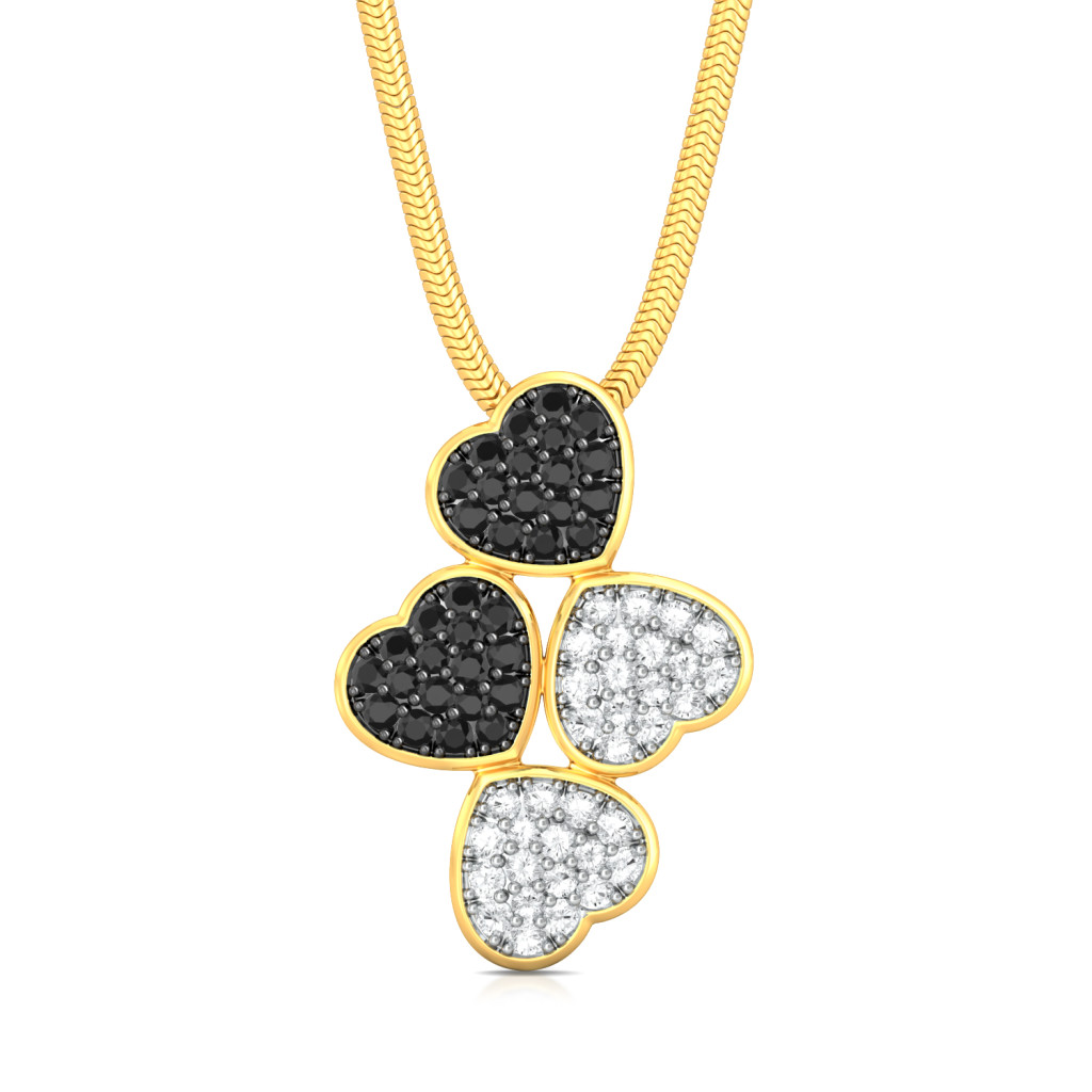 Head Over Heels Diamond Pendants