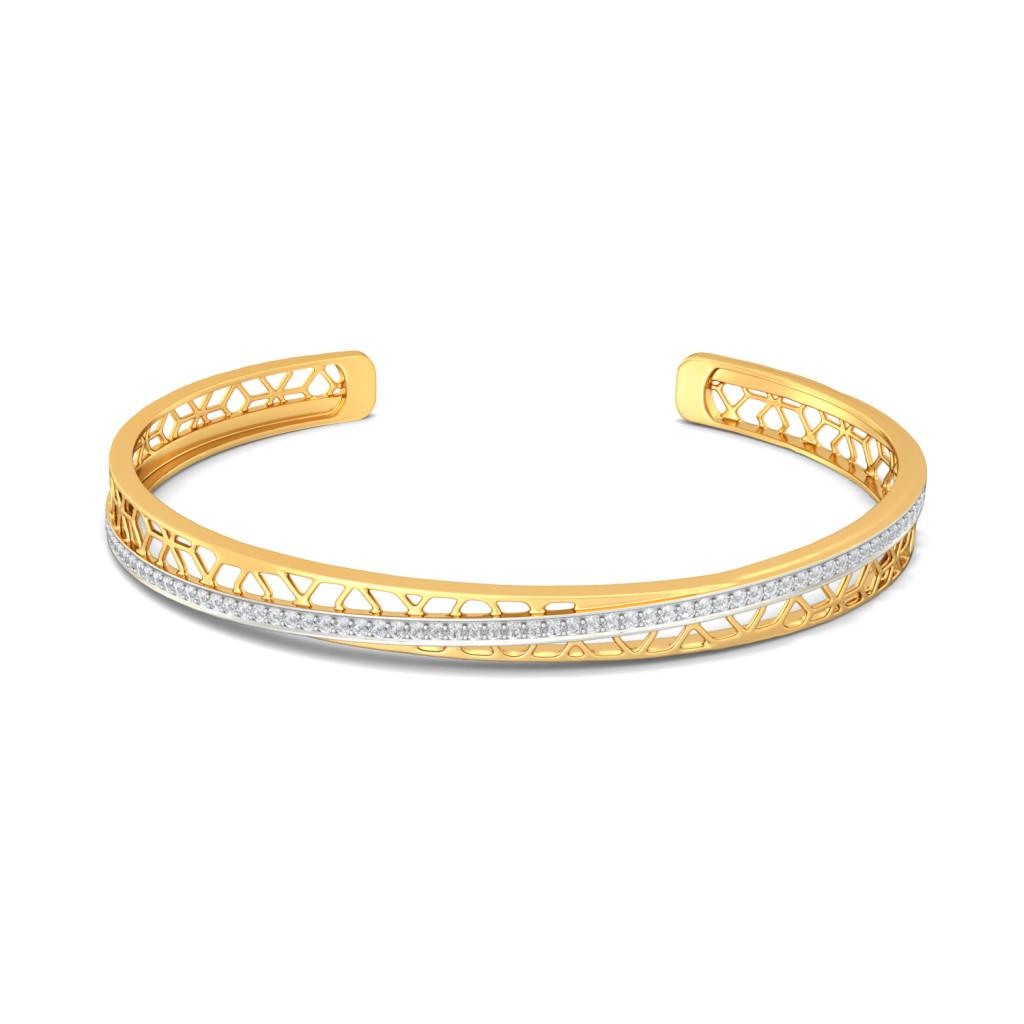Crossover Lace Diamond Bangles
