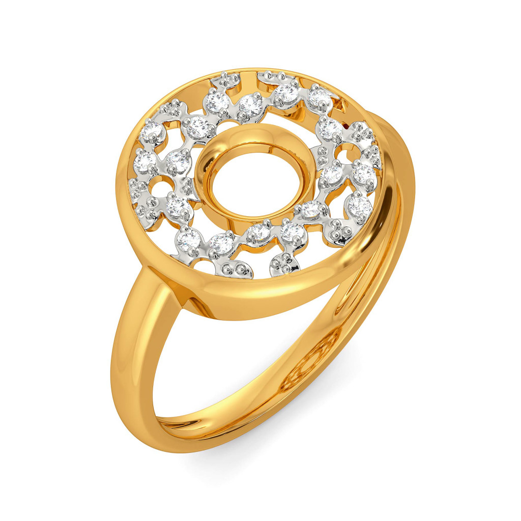 Lacy Twirls Diamond Rings