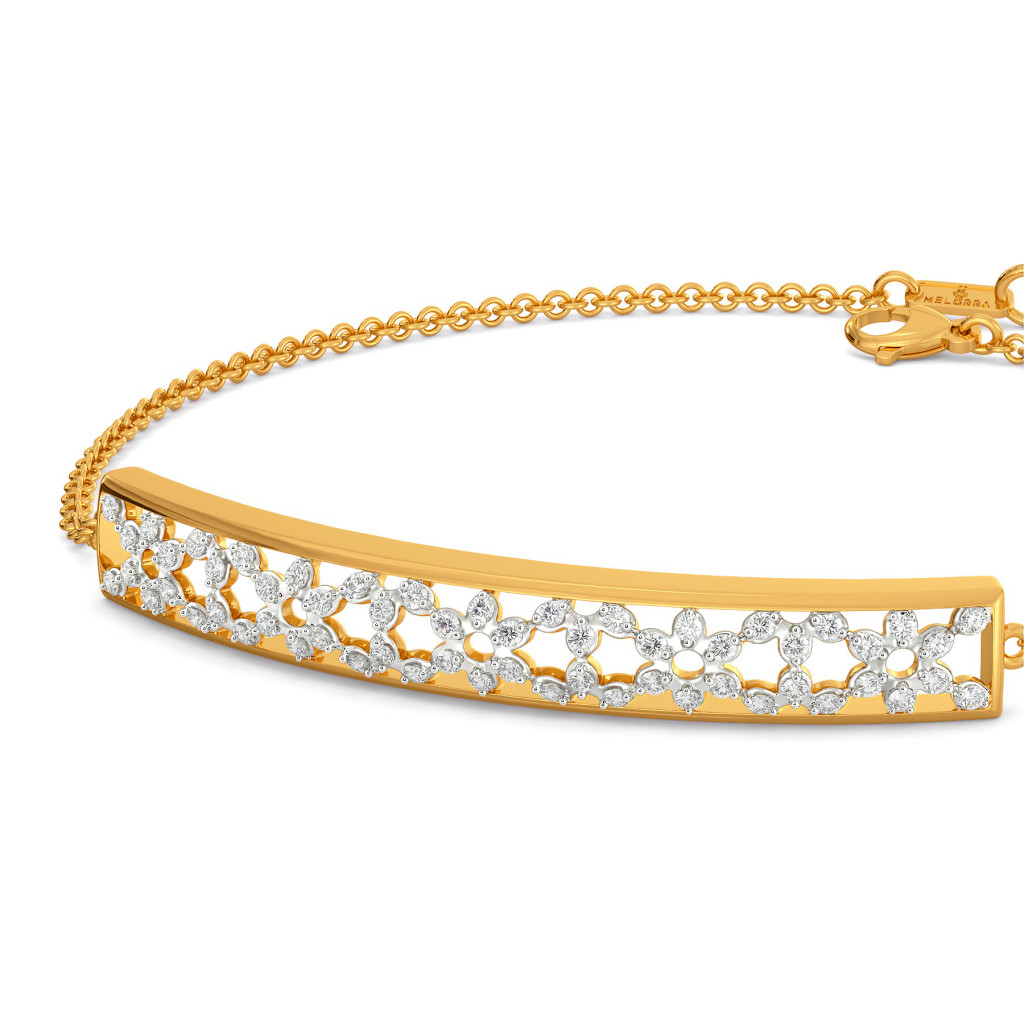 Lattice Layers Diamond Bracelets