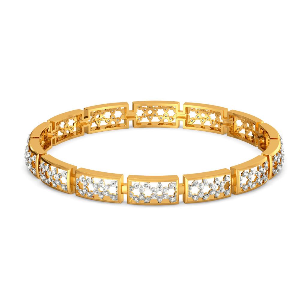 Lattice Layers Diamond Bangles