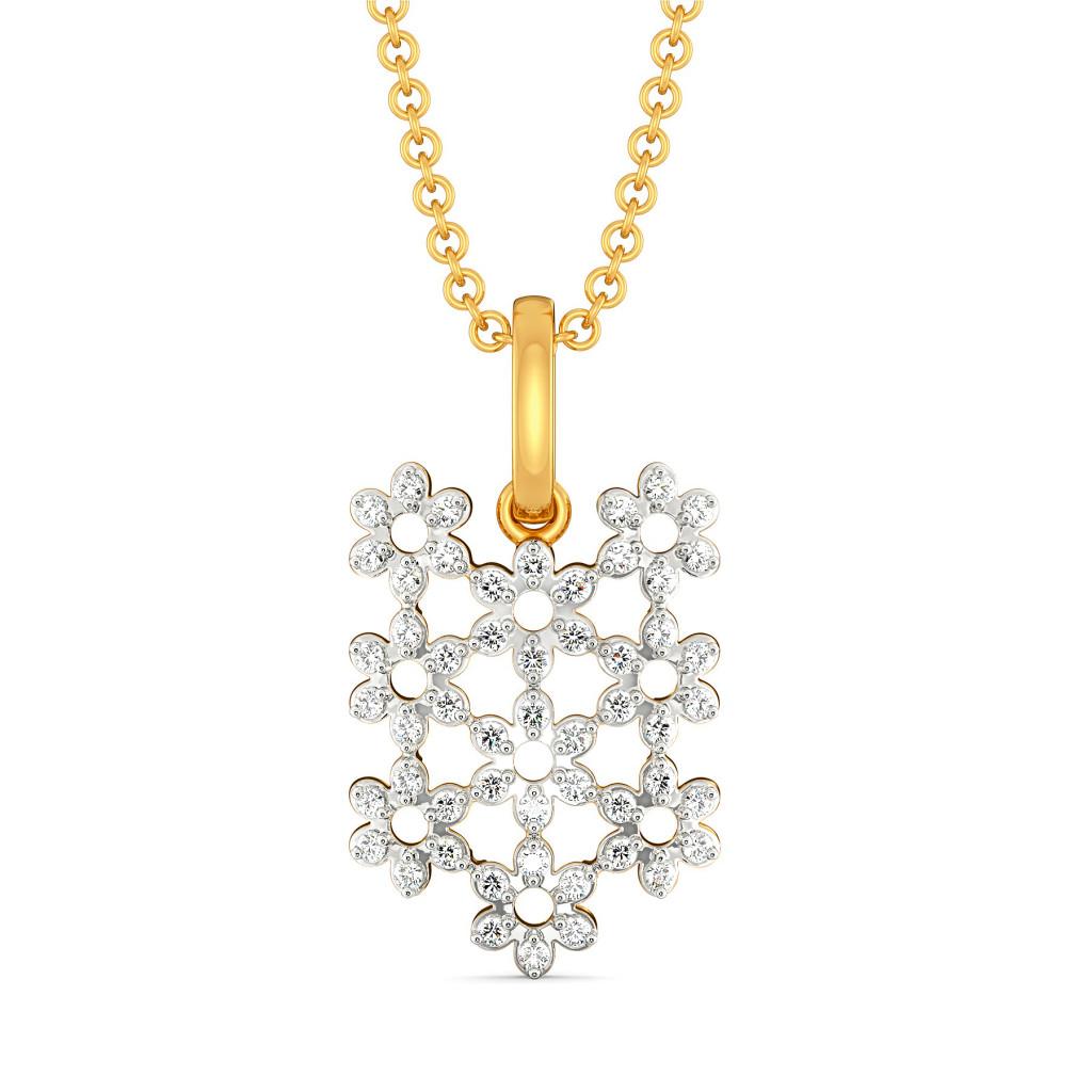 Edgy Lace Diamond Pendants