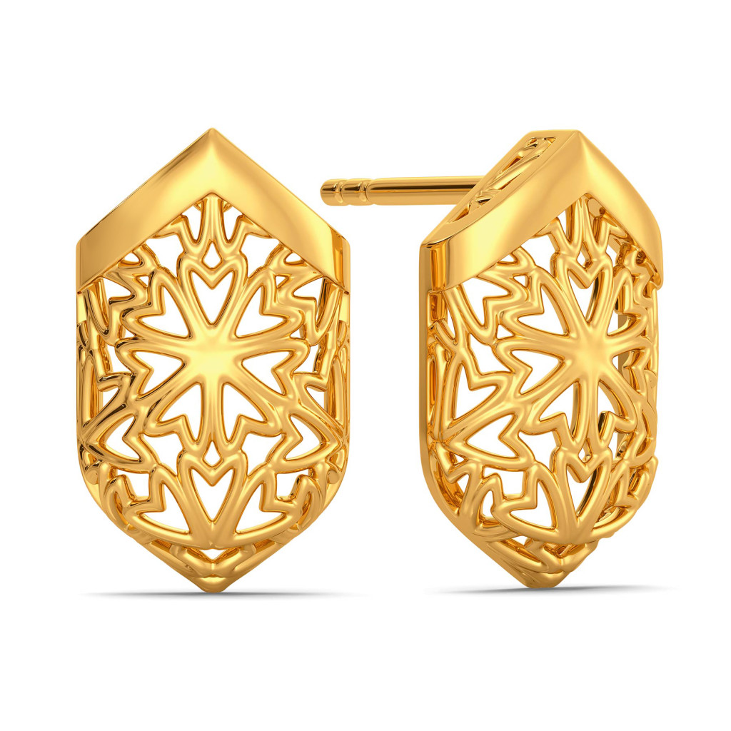 Bend A Lace Gold Earrings