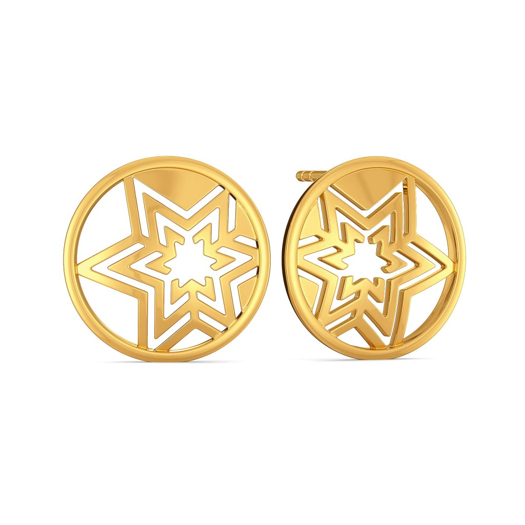 Logo Luck Gold Earrings
