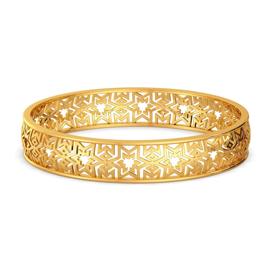 Logo Luck Gold Bangles