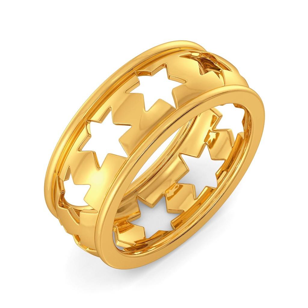 Star Streaks Gold Rings