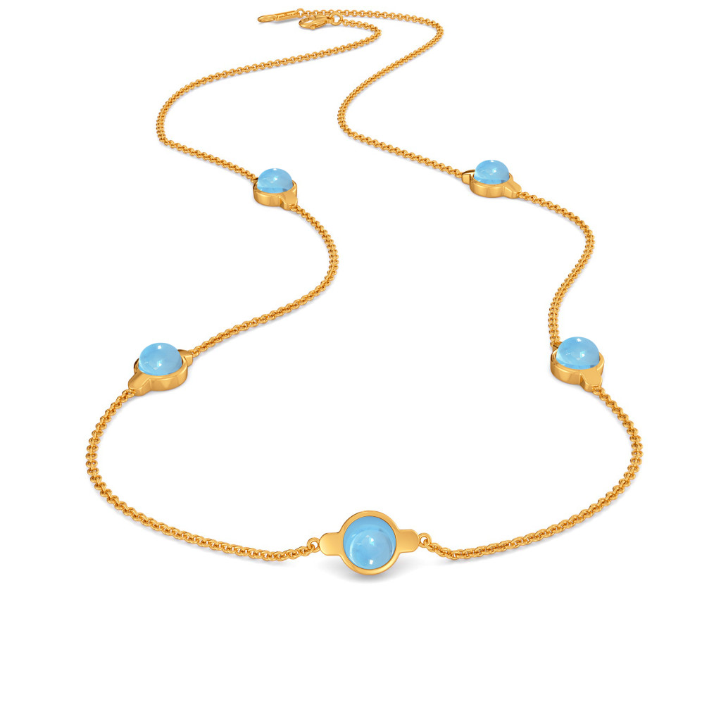 Alice Blue   Gemstone Necklaces