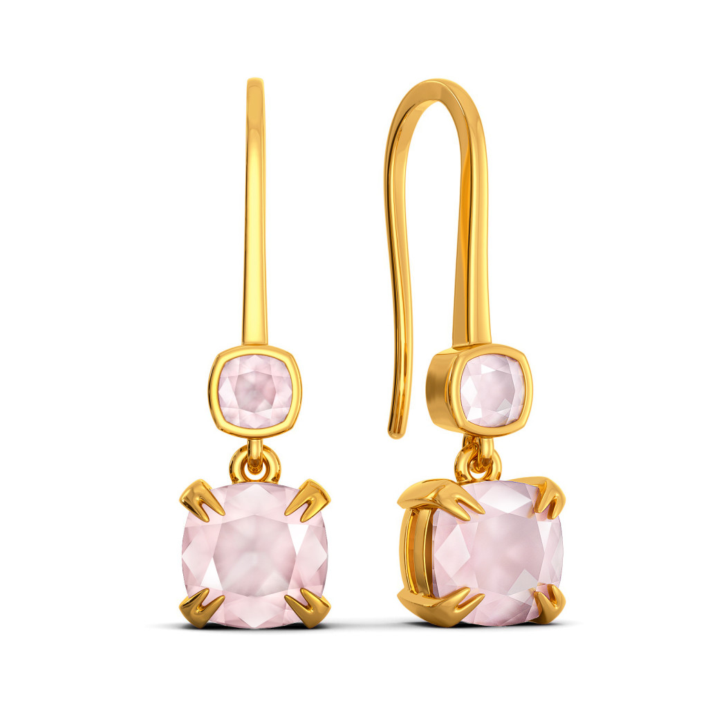 Blush On Gemstone Earrings