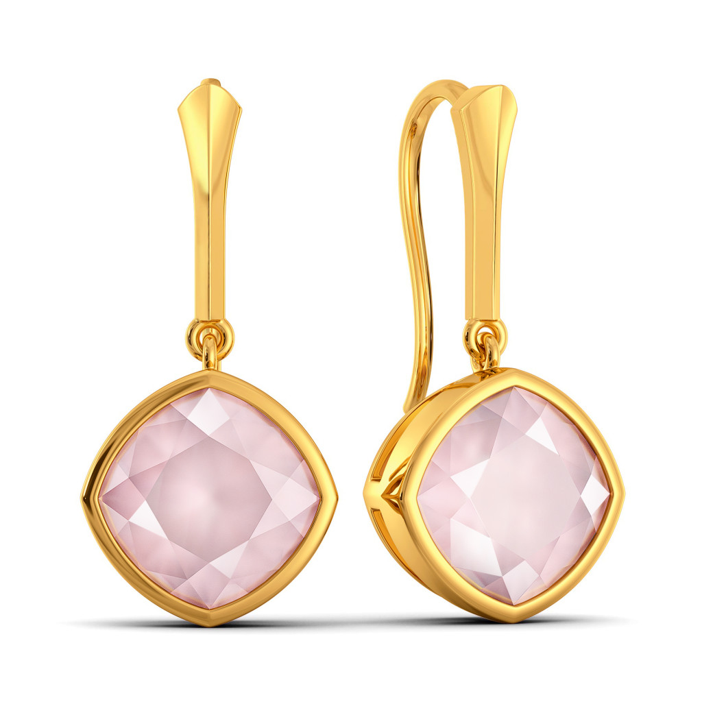 Pastel Pink Gemstone Earrings