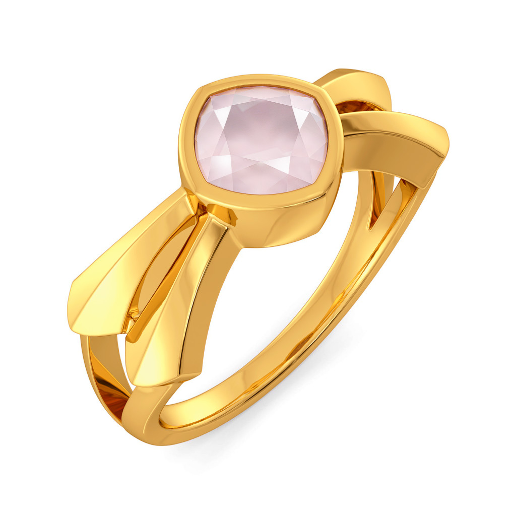 Pastel Pink Gemstone Rings