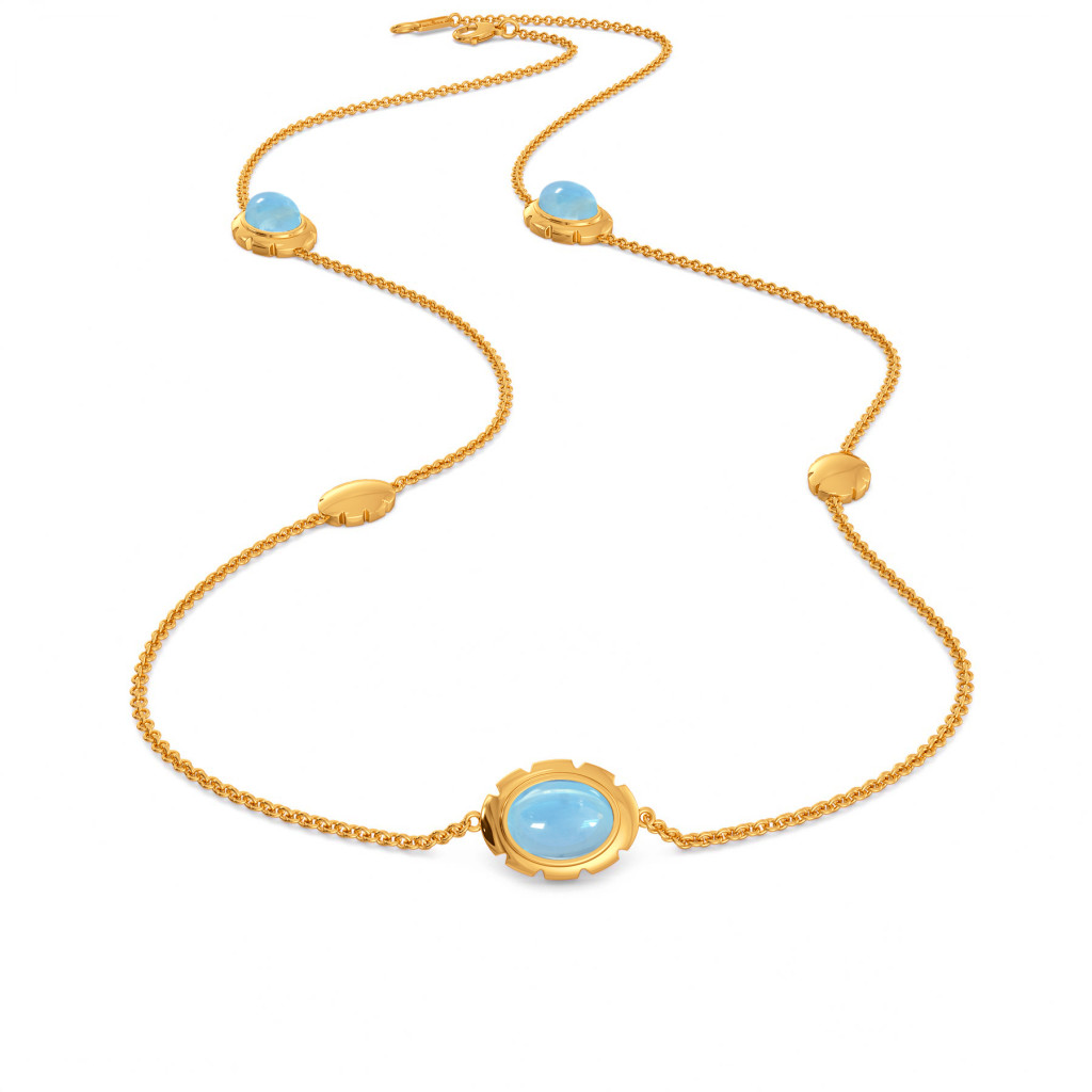 Brewed in Blue Gemstone Necklaces