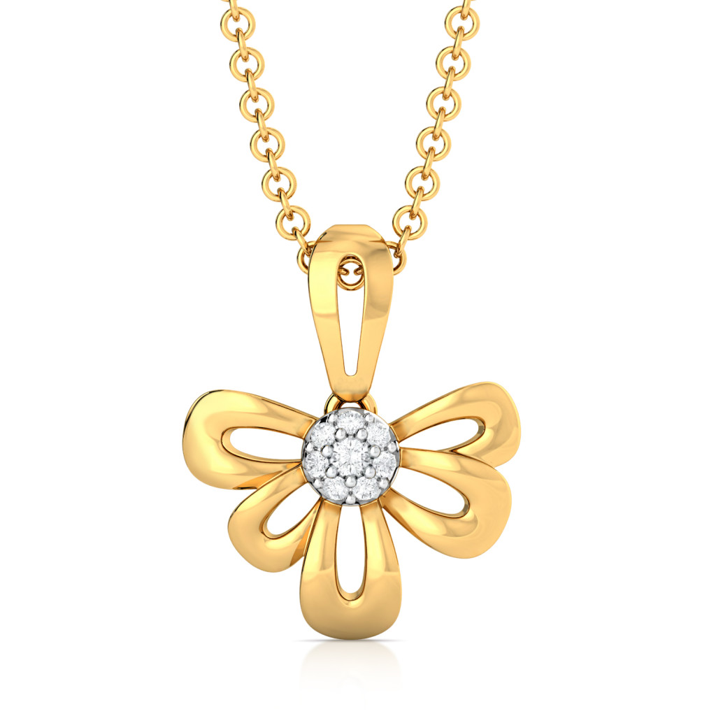 Petal Perfection Diamond Pendants