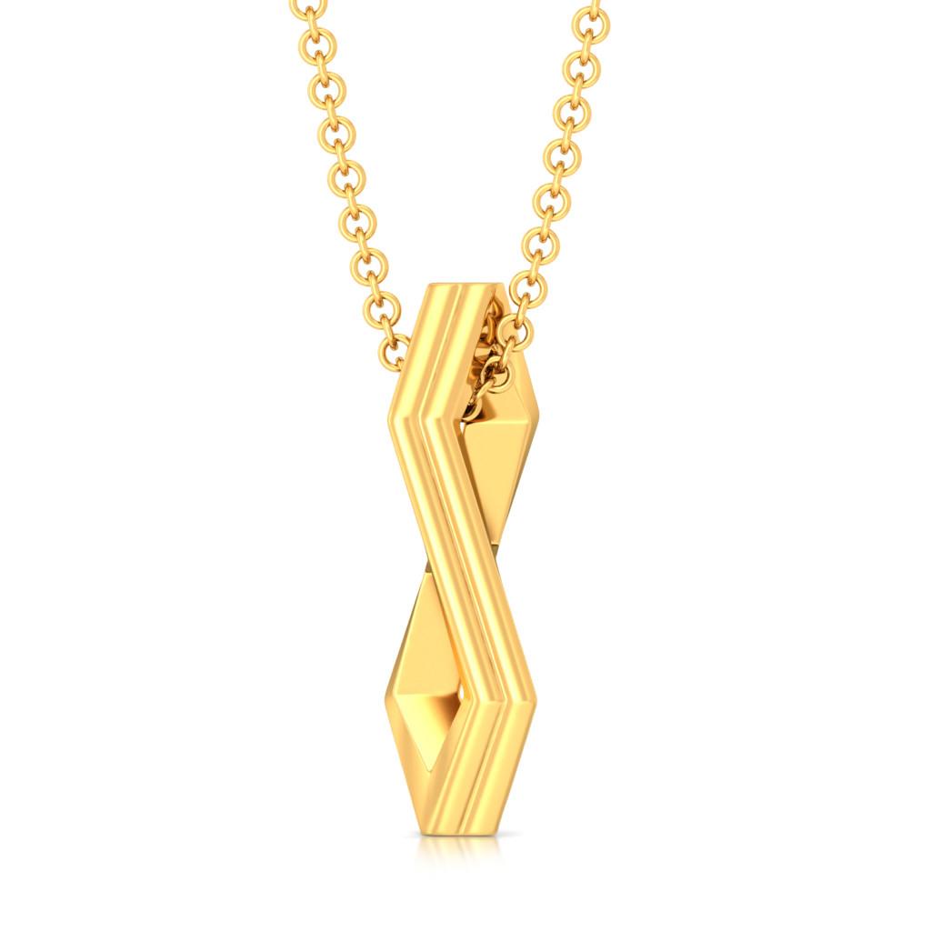 Simplistic Grace Gold Pendants