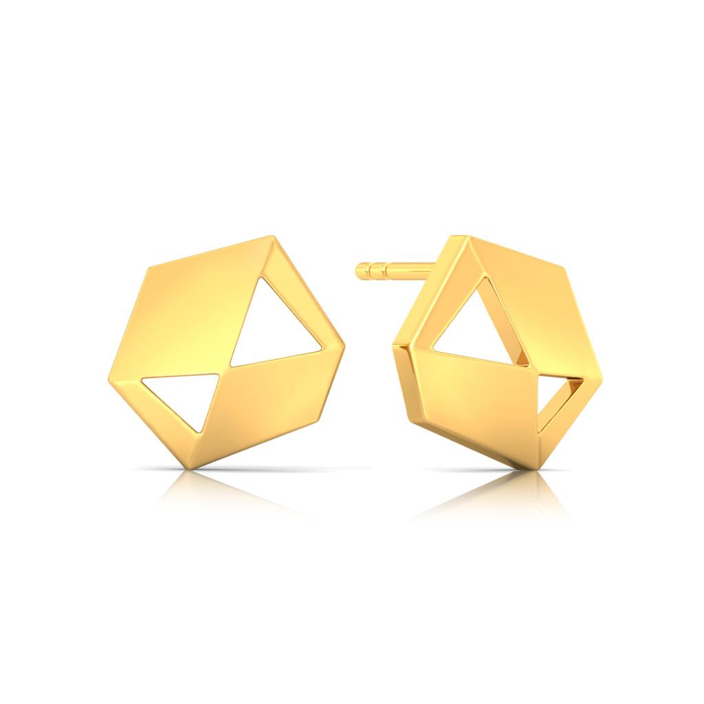 Shape Shine Gold Earrings