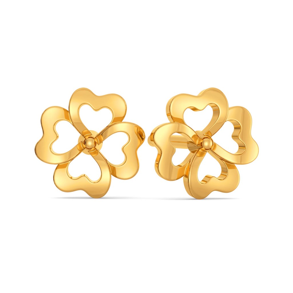Florally Fabulous Gold Earrings