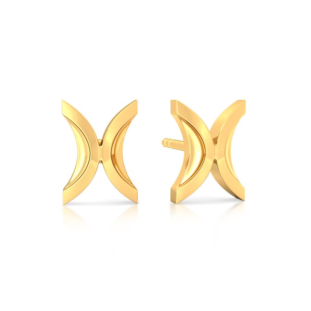 Culture Curvature Gold Earrings
