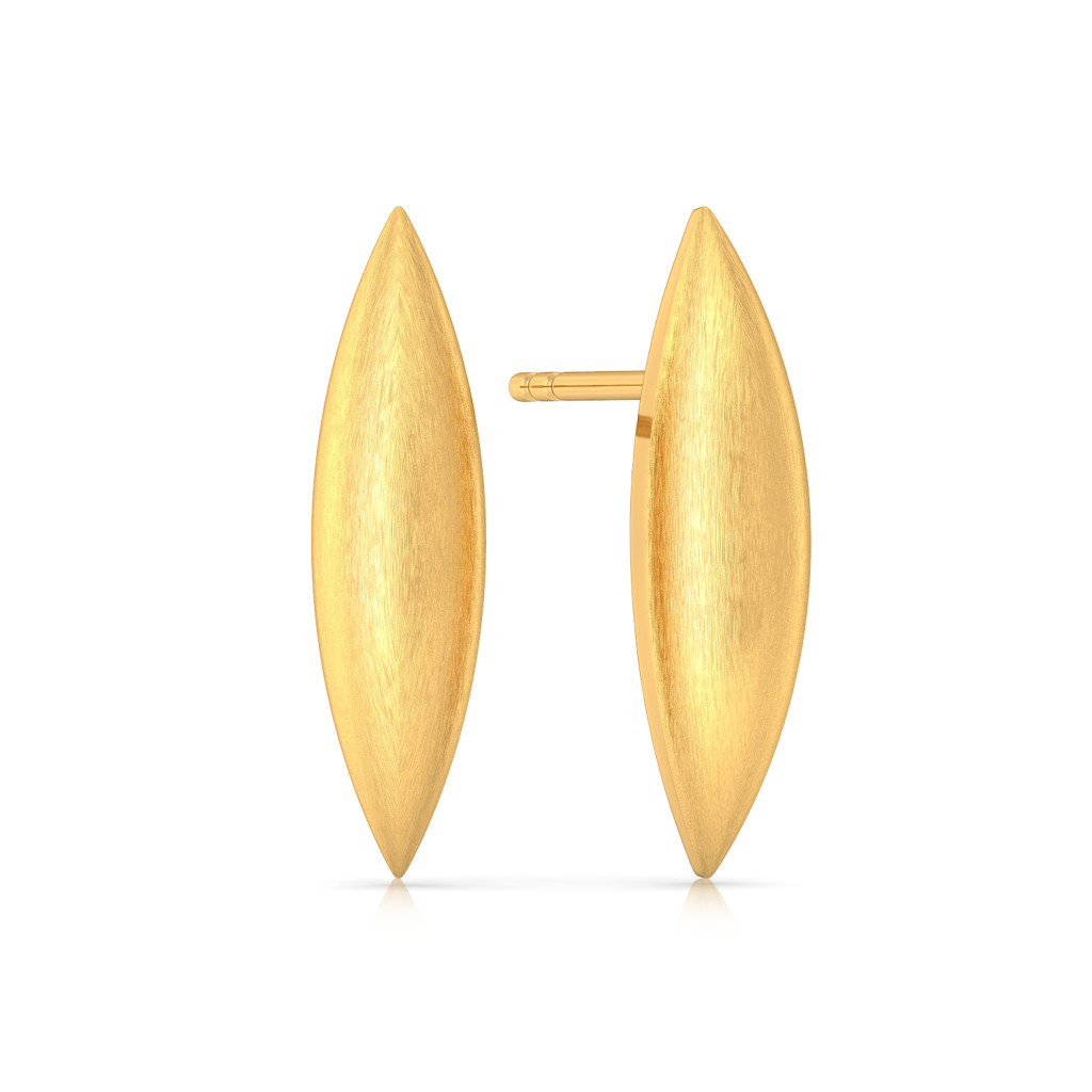 Flex Convex Gold Earrings