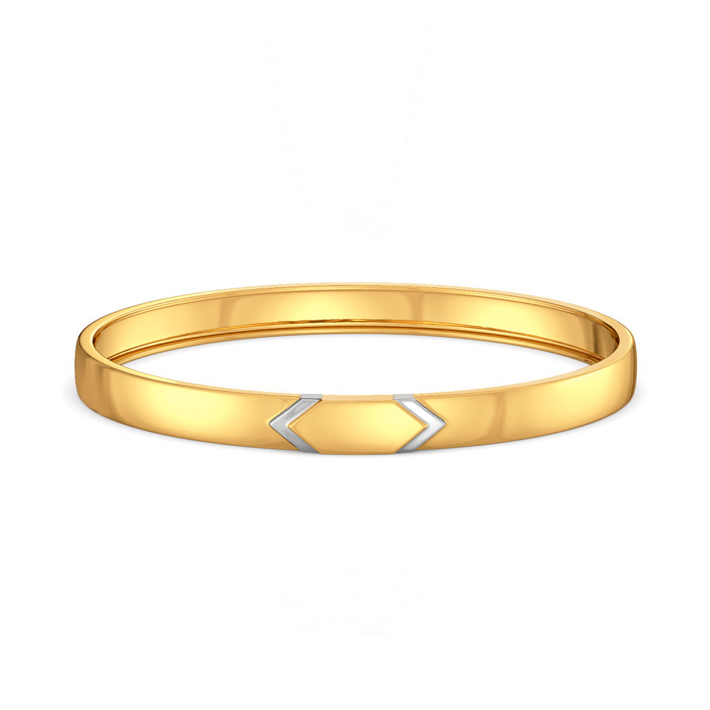 On The Edge Gold Bangles