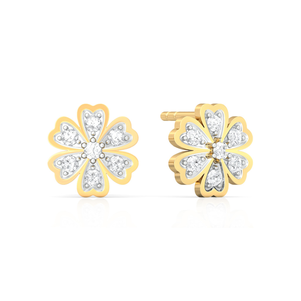 Star of Hearts Diamond Earrings